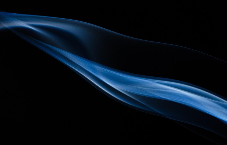 Фото обои Blue, Black, Shadow, Smoke, Background