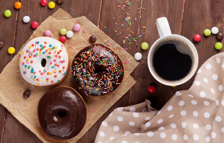 Пончик и кофе картинки