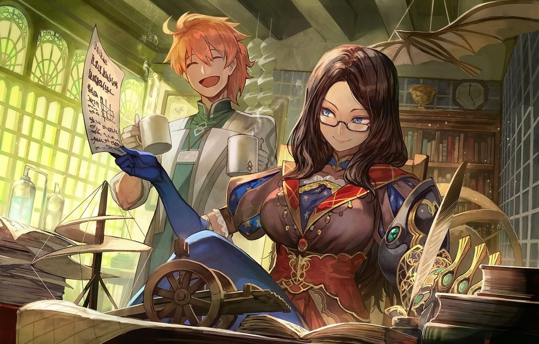 Фото обои девушка, аниме, парень, двое, Fate / Grand Order