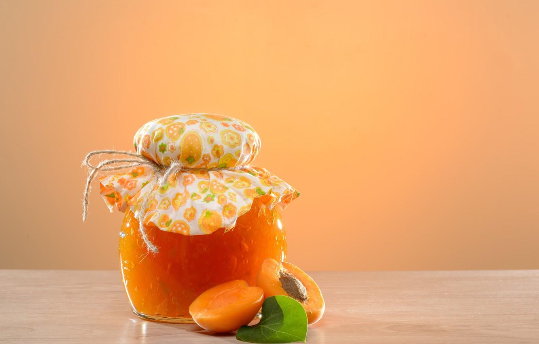 Фото обои фрукты, джем, абрикосы, apricot