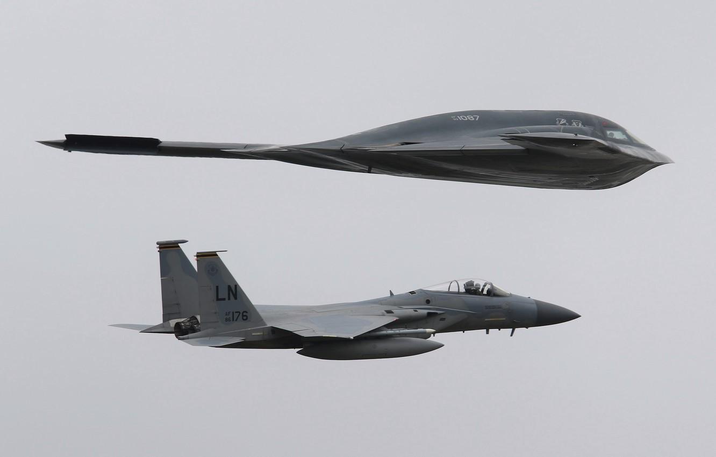 Обои B-2a, стратегический, бомбардировщик. Авиация foto 14