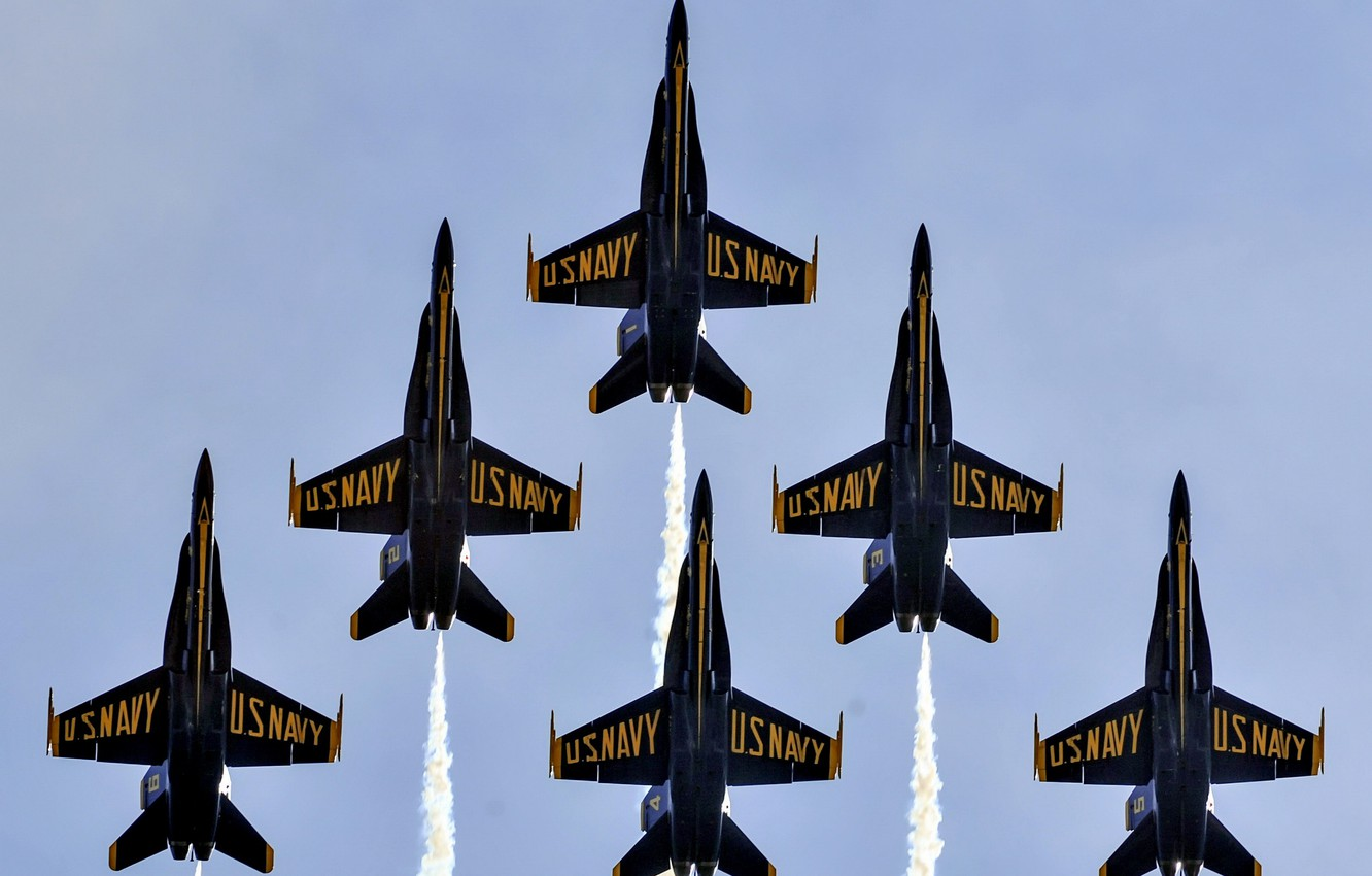 Фото обои Blue Angels, United States Marine Corps, Air Show