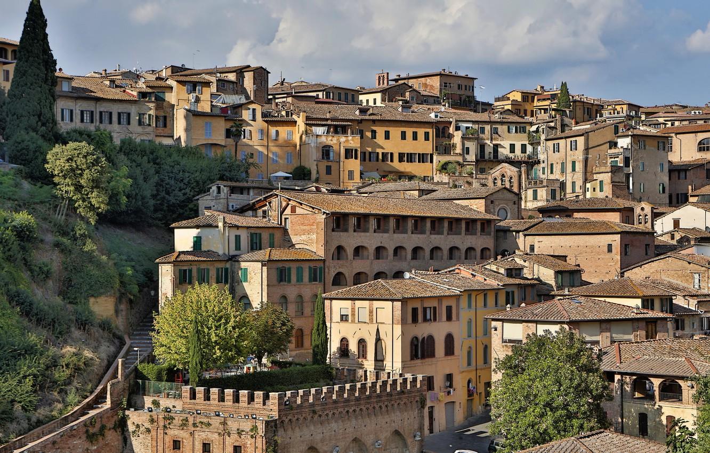 Обои тоскана, italy, крыши, Tuscany, сиена, здания. Города foto 9