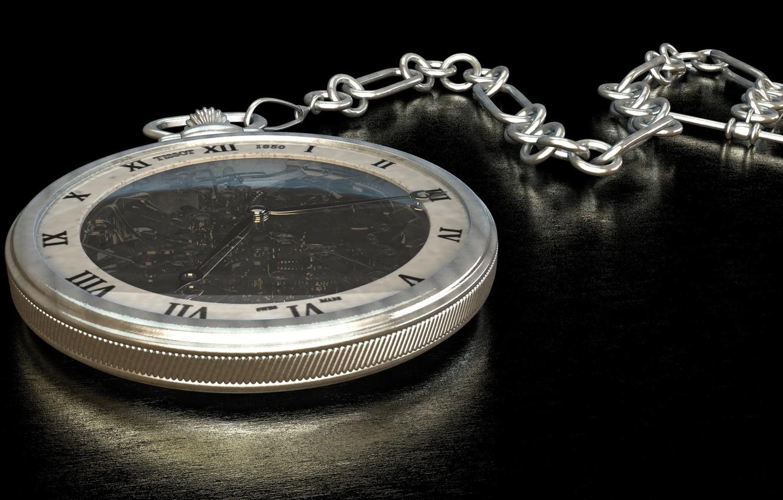 Фото обои часы, циферблат, цепочка, карманные часы