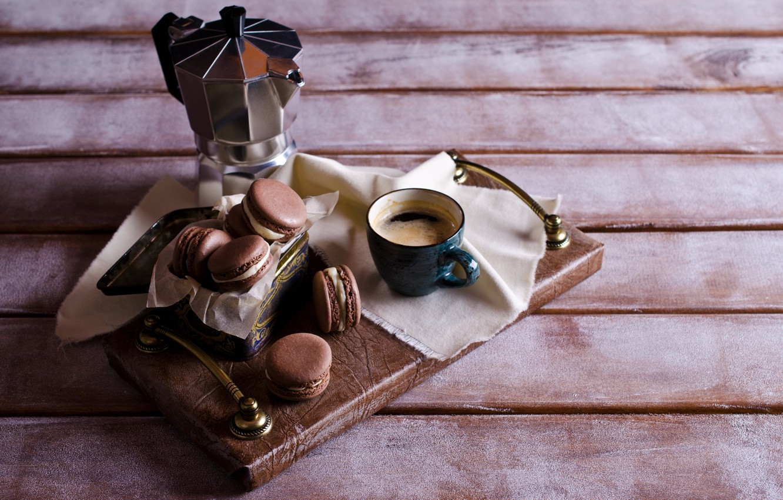 Фото обои кофе, печенье, чашка, крем, десерт, выпечка, sweet, coffee cup, cookies, macaron, almond, макаруны
