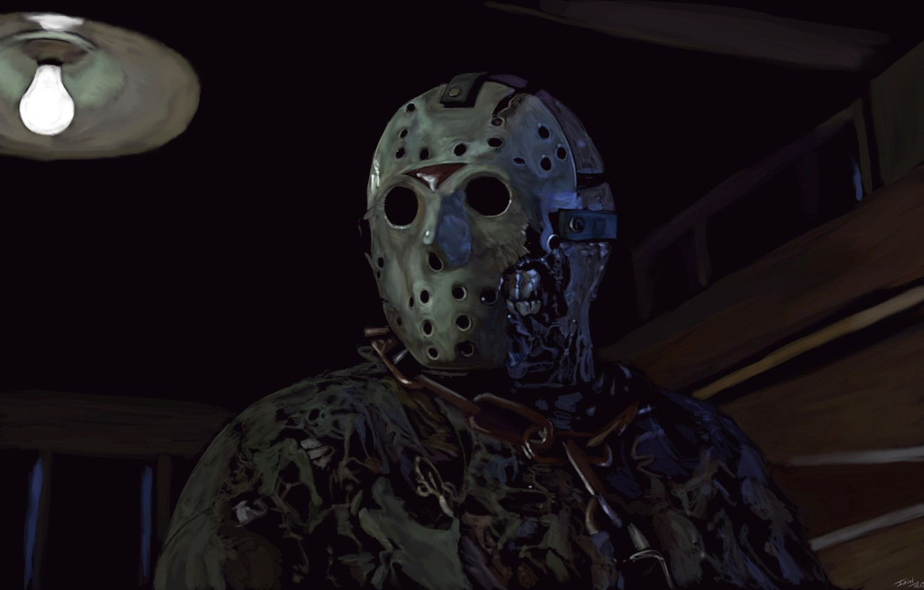 обои маска арт Friday The 13th Jason Voorhees картинки на