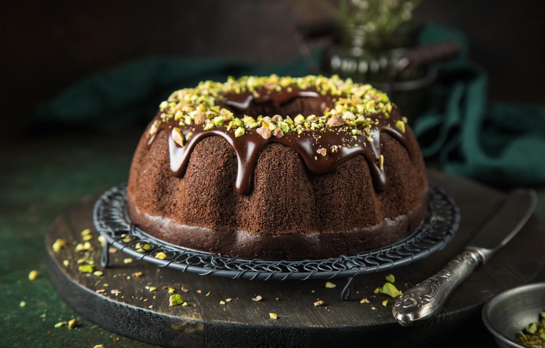 Фото обои торт, орехи, сладкое, шоколадный, шоколадная глазурь