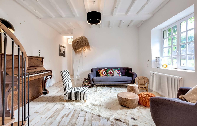 Фото обои дизайн, интерьер, рояль, гостиная, Home in Paris