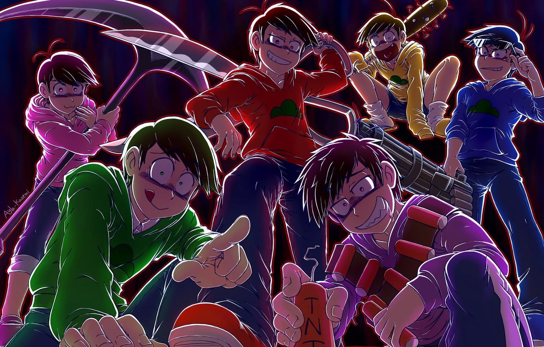 Фото обои аниме, арт, парни, Osomatsu-San