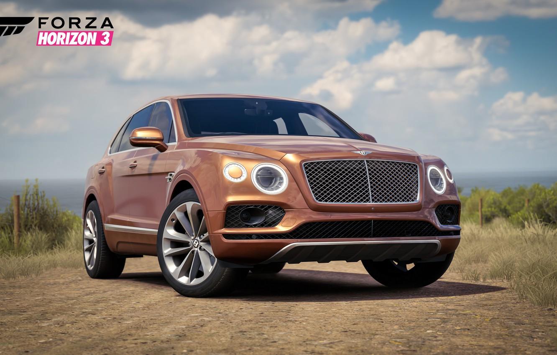 Фото обои car, Bentley, logo, game, Forza Horizon, Forza, Forza Horizon 3
