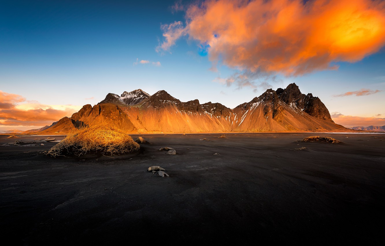 Фото обои свет, утро, Iceland, Auster-Skaftafellssysla