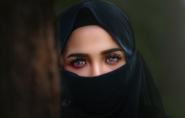 Фото обои глаза, взгляд, eyes, sight, Паранджа, Paranja