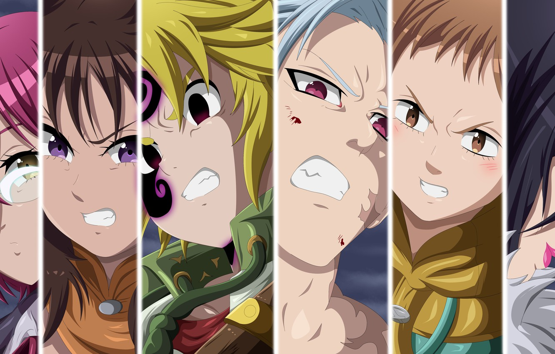 Фото обои game, anime, manga, oriental, asiatic, Nanatsu no Taizai, japonese, Seven Deadly Sins