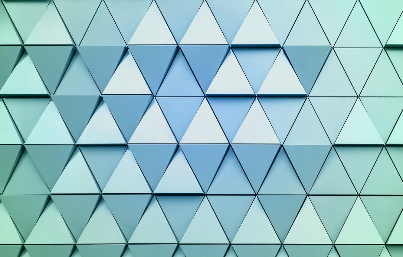 Обои треугольники, углы, геометрические фигуры, KDE, голубой, абстракция. Абстракции foto 8