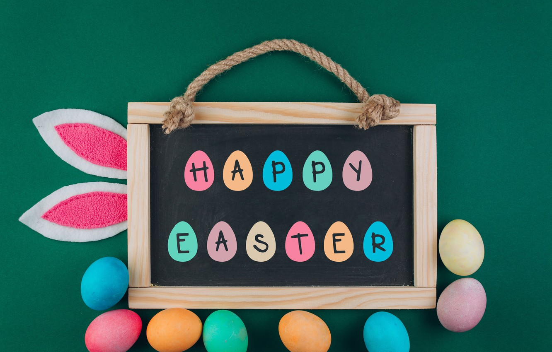 Фото обои яйца, colorful, Пасха, доска, wood, spring, Easter, eggs, decoration, Happy