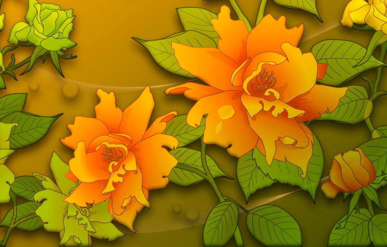 Фото обои цветы, фон, графика, текстура