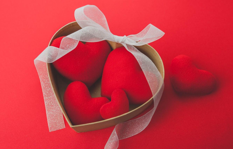 Фото обои сердечки, red, love, romantic, hearts, valentine's day, gift