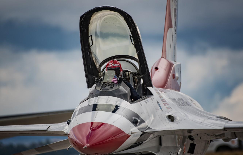 Обои fighting falcon, истребитель, F-16c, кабина. Авиация foto 7