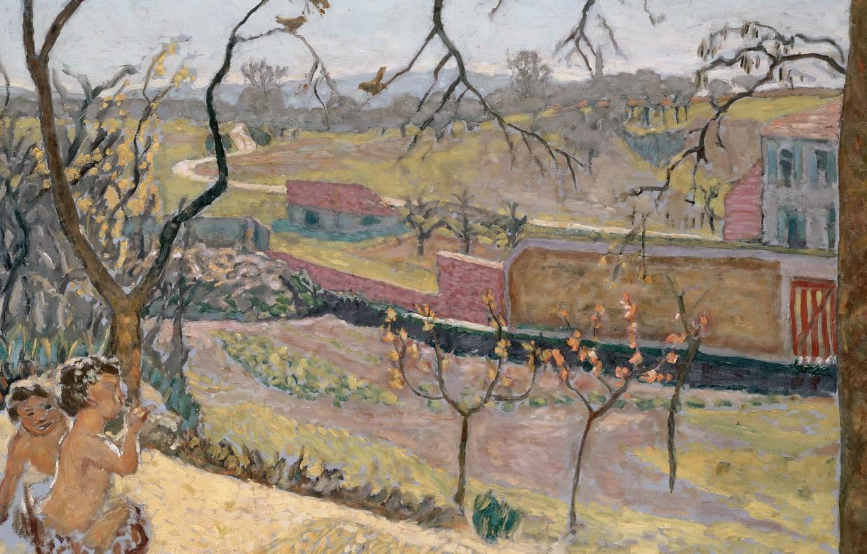 Обои Пьер Боннар, картина, Ранняя Весна. Маленький Фавн, Пейзаж. Разное foto 6