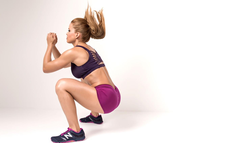 Фото обои female, workout, fitness