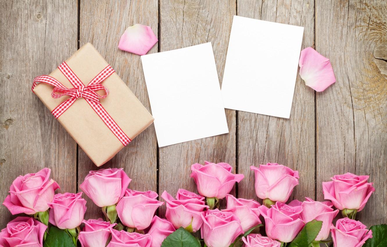 Фото обои розы, love, pink, romantic, sweet, gift, petals, roses, valentine`s day