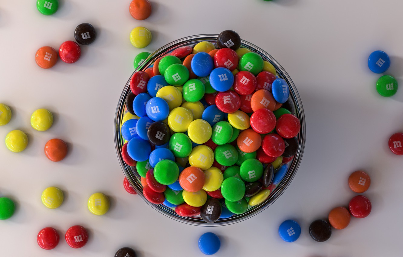 Фото обои конфеты, чашка, драже, Sweet Colors