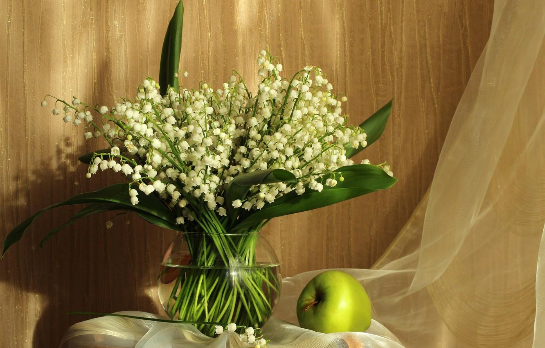 Фото обои цветы, настроение, букет, весна, май, натюрморт, ландыши