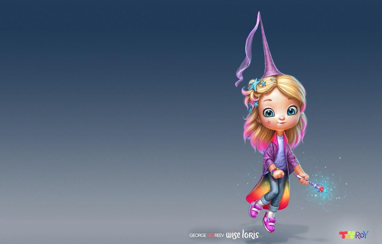 Фото обои магия, арт, girl, magic, волшебная палочка, детская, феечка, Георгий Редреев, George REDreev, Yesenia's magic shop