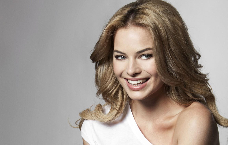 Фото обои улыбка, актриса, блондинка, красотка, blonde, margot robbie, марго робби