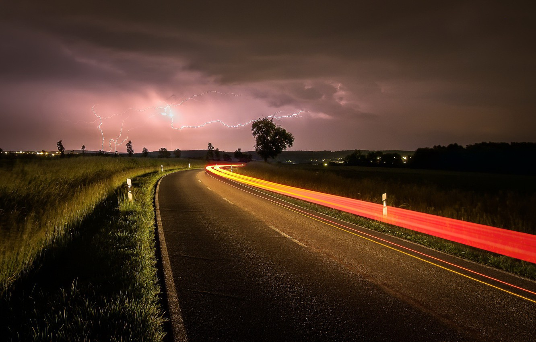 Красивые картинки с дорогой ночью