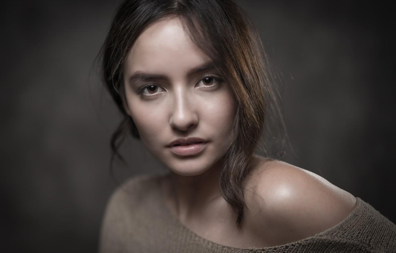 Фото обои взгляд, девушка, портрет, Aniqua