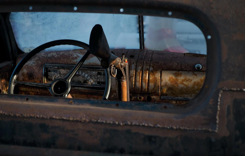 Фото обои машина, руль, ружьё