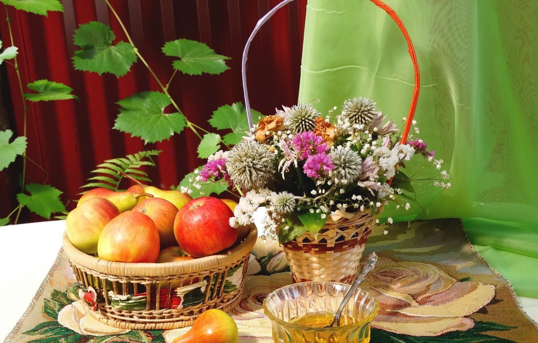 Фото обои лето, праздник, август, натюрморт, православие