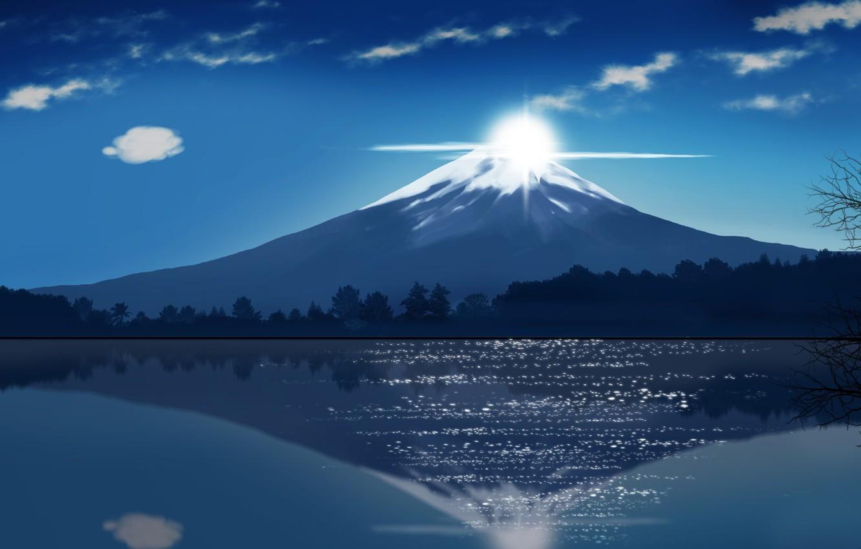 Фото обои Japan, sky, cloud, lake, asian, oriental, asiatic, Fuji, kumo, japonese, by iitheluciferii, montai, Fuji Mountain, …