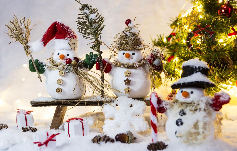 Фото обои зима, снег, снежинки, Новый Год, Рождество, снеговик, happy, Christmas, winter, snow, Merry Christmas, Xmas, snowman, …