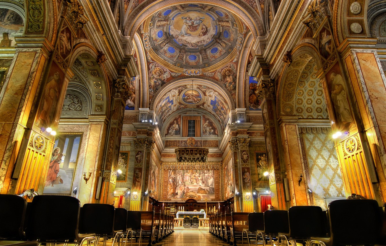 Фото обои Рим, Италия, церковь, Сан-Джироламо-деи-Кроати