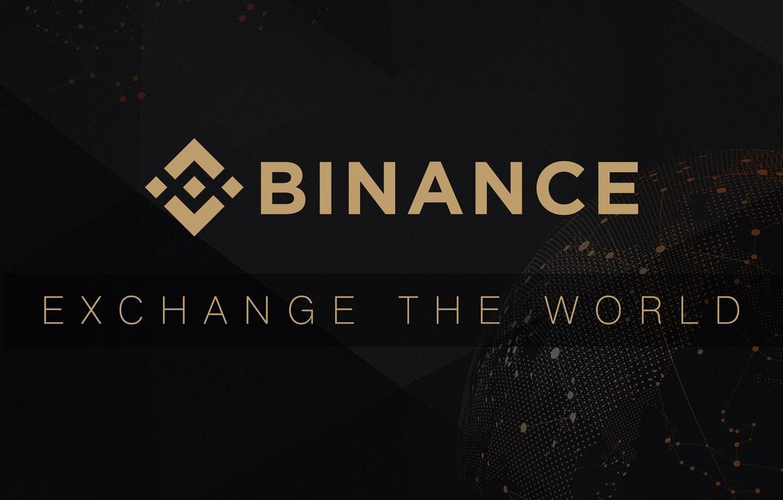 Фото обои лого, black, fon, exchange, биржа, Binance