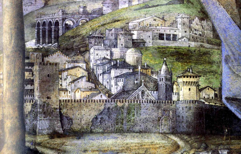 Фото обои город, крепость, détail, La Chambre des Epoux