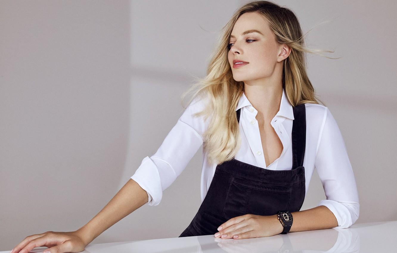 Фото обои часы, блондинка, blonde, clock, margot robbie, марго робби