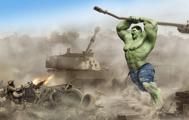 Фото обои танк, гранатомет, пушка, военные, HULK, Дамир Мартин