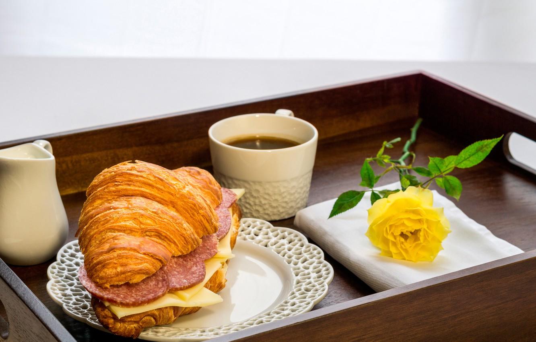есть красивое фото бутерброд с кофе обратите внимание, иглы
