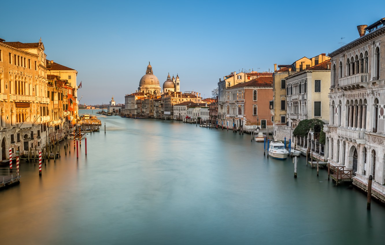 Фото обои Италия, Венеция, канал, Italy, Venice, Panorama, channel, Grand Canal