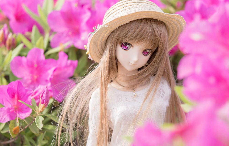 Обои Кукла, цветы. Разное foto 10