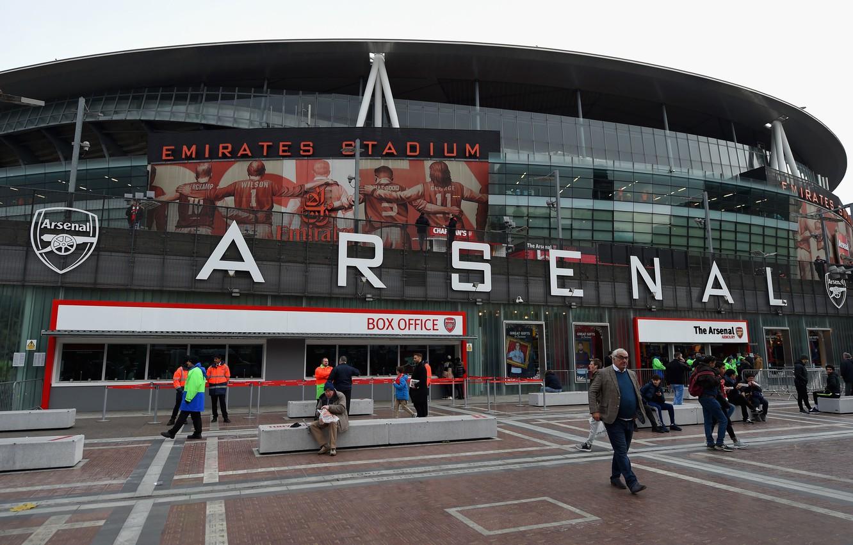 Фото обои футбол, Лондон, Арсенал, stadium, болельщики, стадион, Emirates, Arsenal, London, Эмирейтс
