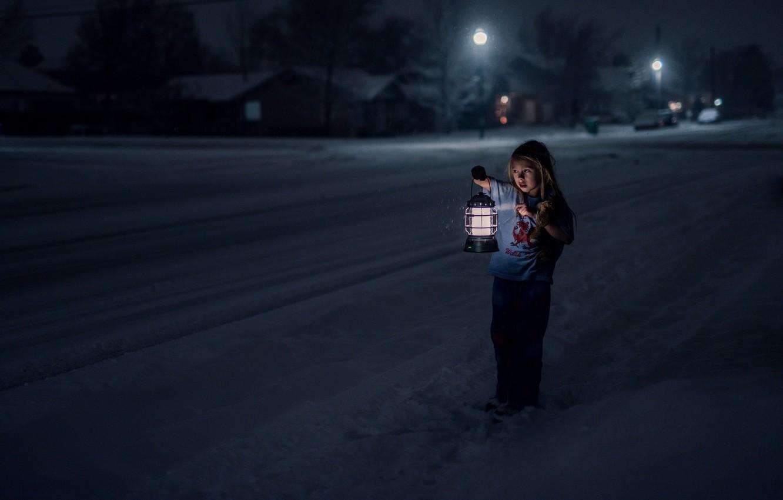 Обои страх, Девочка, холод, одиночество, улица. Настроения foto 6