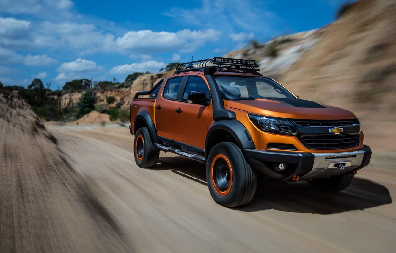 Фото обои Concept, Chevrolet, Colorado, 2016, ZR2, Xtreme, Pickup trucks
