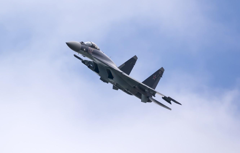 Обои сверхманевренный, Самолёт, многоцелевой, Su-35. Авиация foto 16