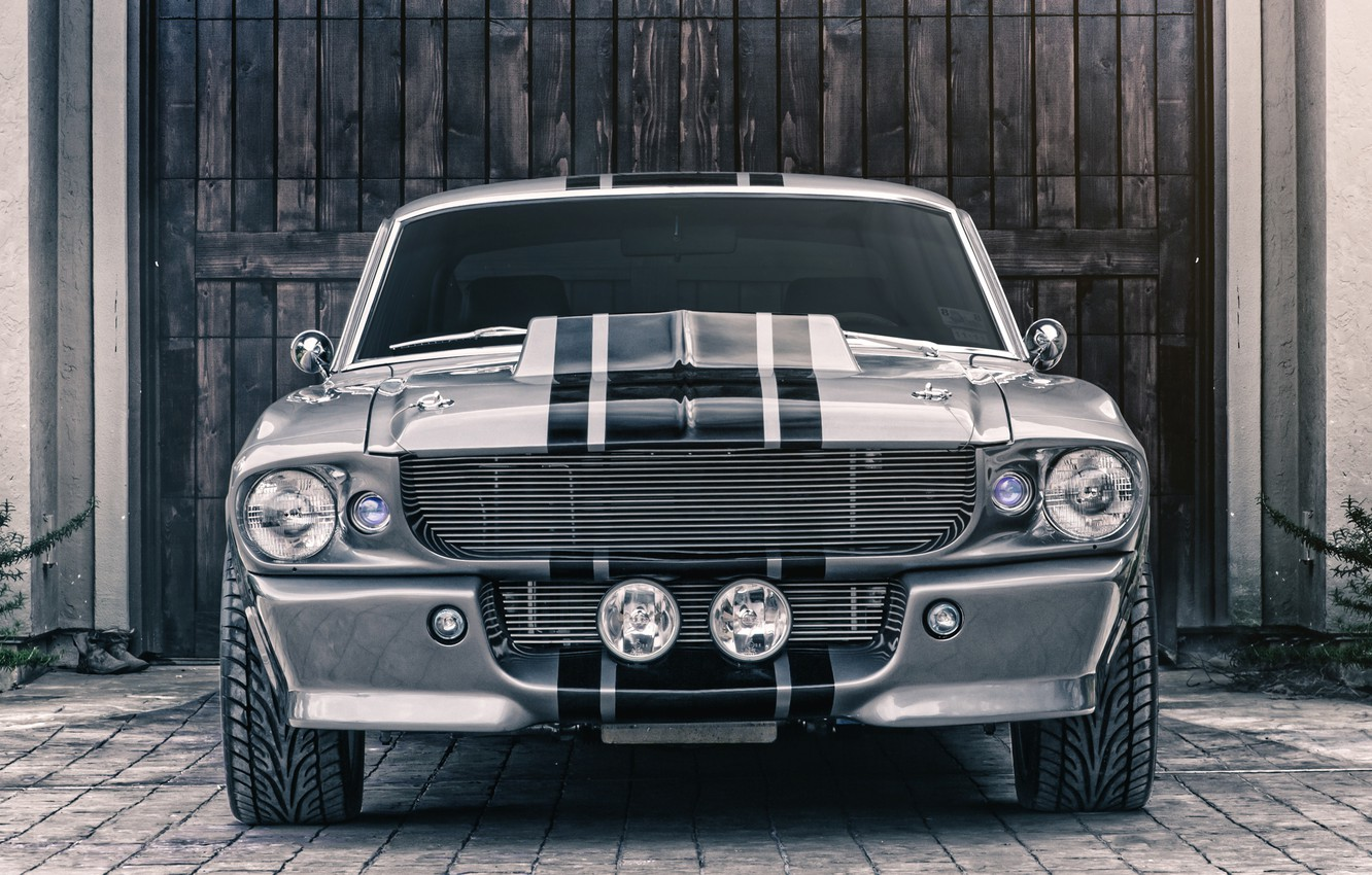Фото обои Mustang, Ford, Shelby, GT500, Eleanor, Muscle car, Silver