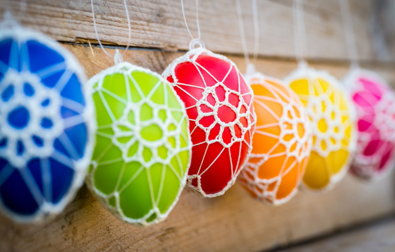 Фото обои праздник, яйца, Пасха, декор, Easter, крашенки