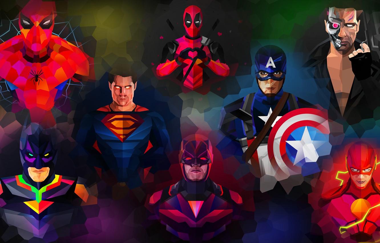 Фото обои фиолетовый, оранжевый, синий, желтый, красный, зеленый, оружие, серый, сиреневый, сила, розовый, batman, человек-паук, spider-man, green, …